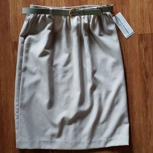 Alfred Dunner Skirt Belt Working Girl Set